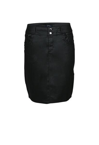 Jupe enduite droite - Noir