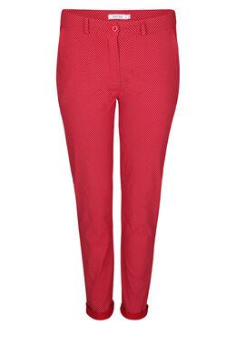 Pantalon en Bengaline imprimé, Rouge
