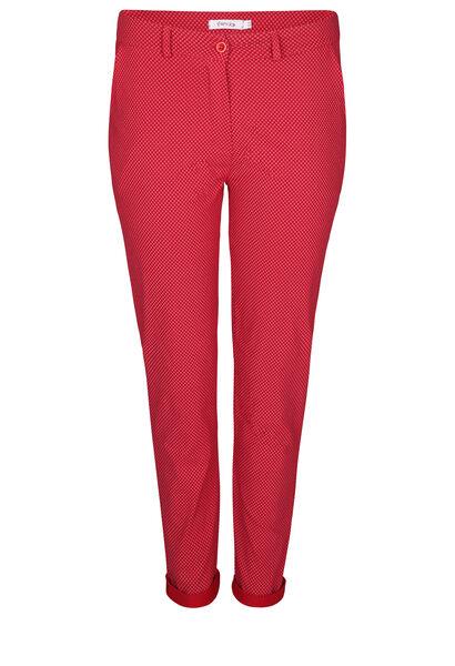 Pantalon en Bengaline imprimé - Rouge