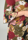 Robe housse imprimé grandes fleurs, Kaki