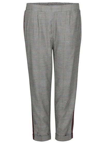 Pantalon de ville à carreaux bandes sportswear - Noir