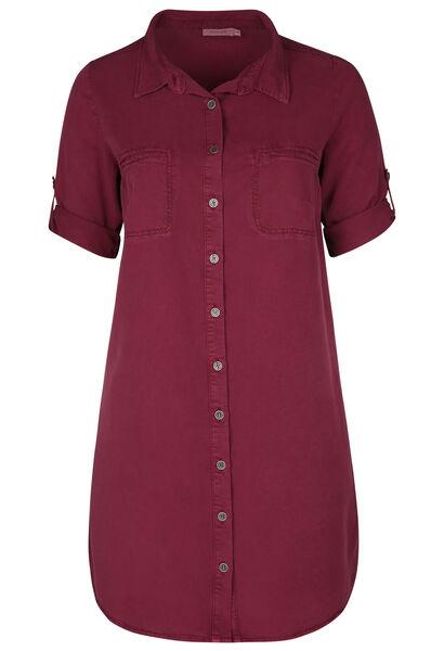 Robe chemise en lyocel - Prune