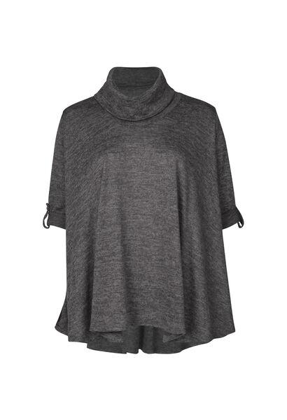 Tunique t-shirt col boule - Anthracite