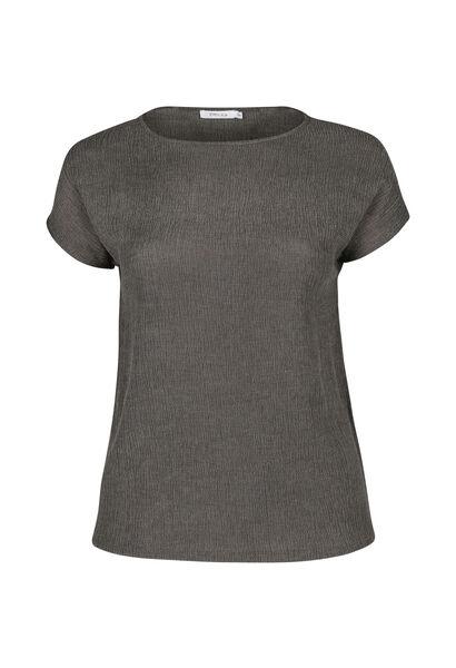 T-shirt en crêpe - Kaki