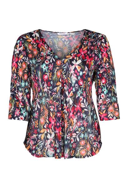 T-shirt imprimé de fleurs - multicolor