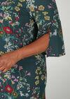 Robe en crêpe imprimé fleuri, multicolor
