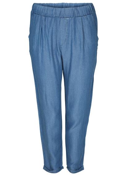 Pantacourt en lyocel jeans - Denim