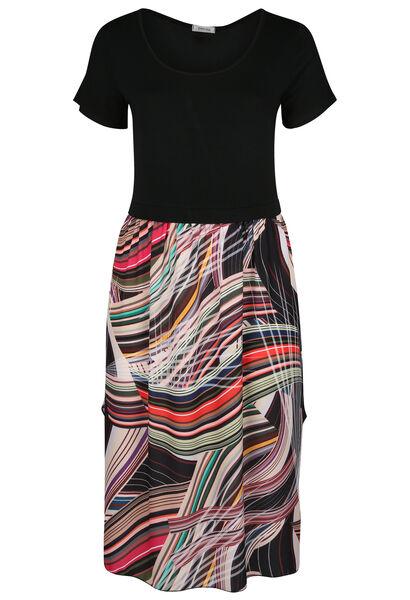 Robe longue imprimé graphique - multicolor