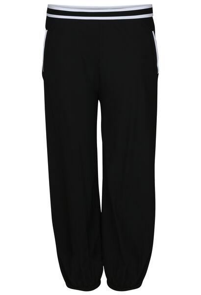 Pantalon effet boule détails bandes élastiquées - Noir