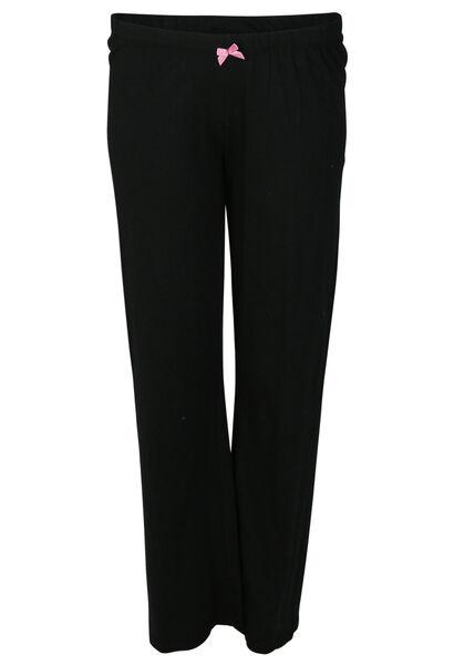 Pantalon de pyjama uni - Noir