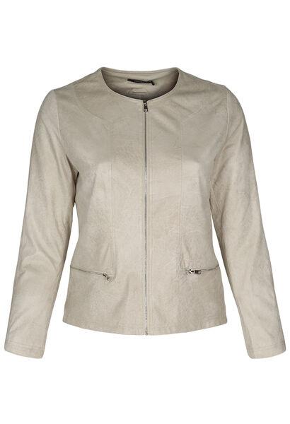 Veste faux cuir - Beige