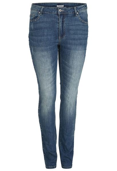 Jeans slim détails clous - Denim