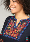 T-shirt tunique ethnique, multicolor