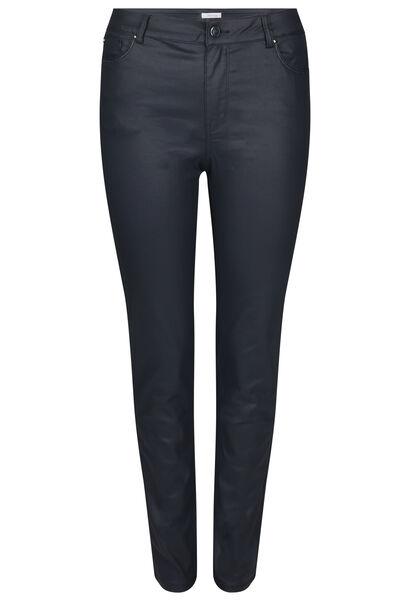 Pantalon enduit coupe slim - Marine