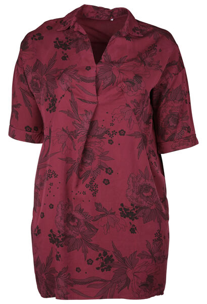 Robe tunique imprimé - Bordeaux