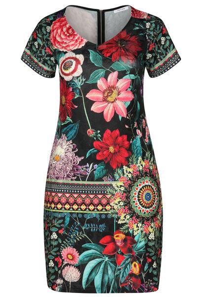 Robe imprimé fleurs avec strass - multicolor