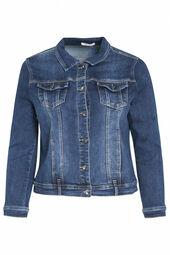 veste en jeans délavée