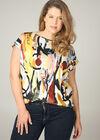 T-shirt imprimé peinture, multicolor