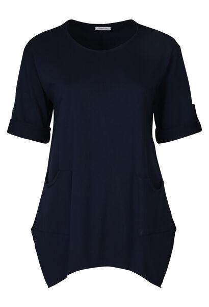 Tunique t-shirt maille sweat unie - Marine