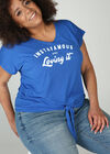 T-shirt en maille print, Bleu Bic