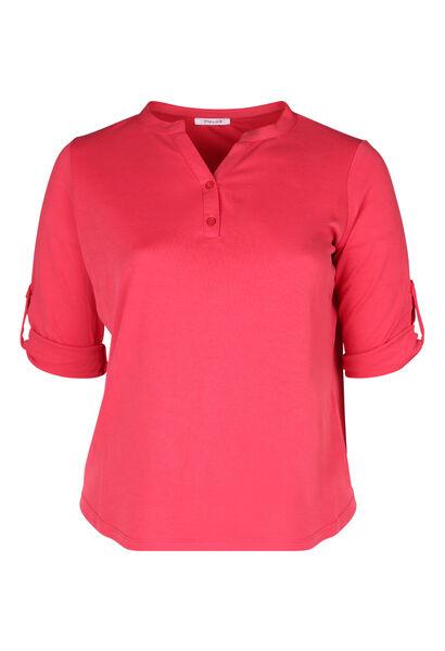 T-shirt encolure tunisienne - Corail