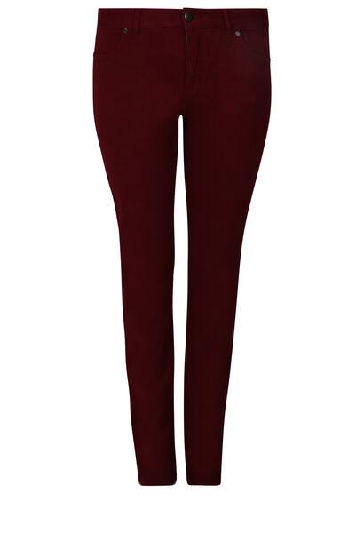 Pantalon coupe droite extra long - Longueur 34 - Bordeaux