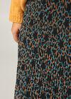 Jupe longue plissée imprimé léopard et étoiles, Canard