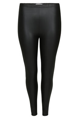 Legging effet faux cuir, Noir