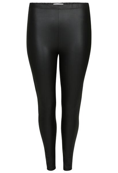 Legging effet faux cuir - Noir