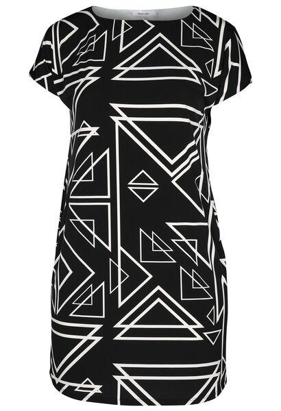 Robe maille froide imprimée - Noir
