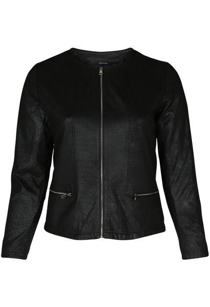 Veste faux cuir - Noir