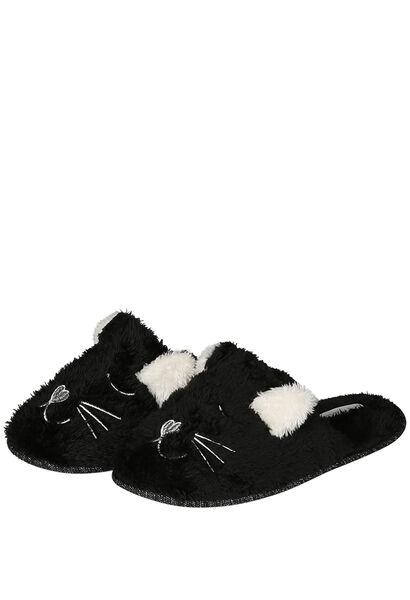 Pantoufles de nuit chien / chat - Noir