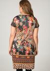 Robe suédine imprimée, multicolor