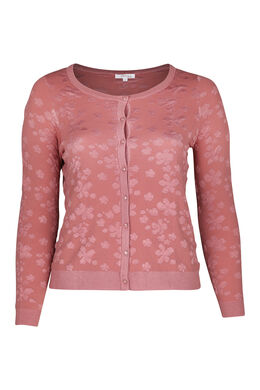 Cardigan reliefé, Rose