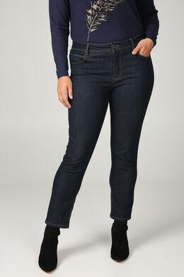 Jeans slim 7/8 détails sequins, Denim