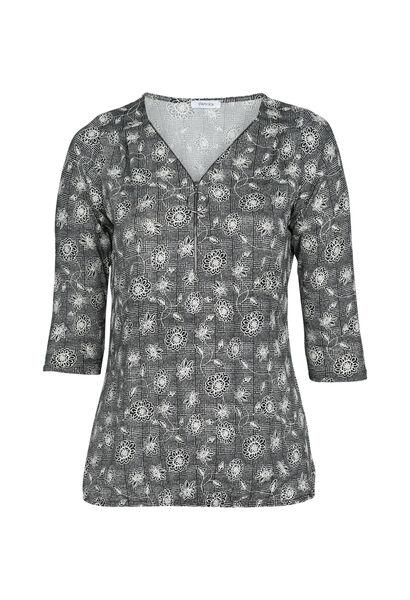 T-shirt imprimé petites fleurs - Noir