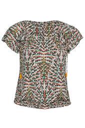 T-shirt maille froide imprimé feuillages