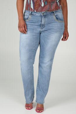 Jeans coupe droite Longueur 34, Denim