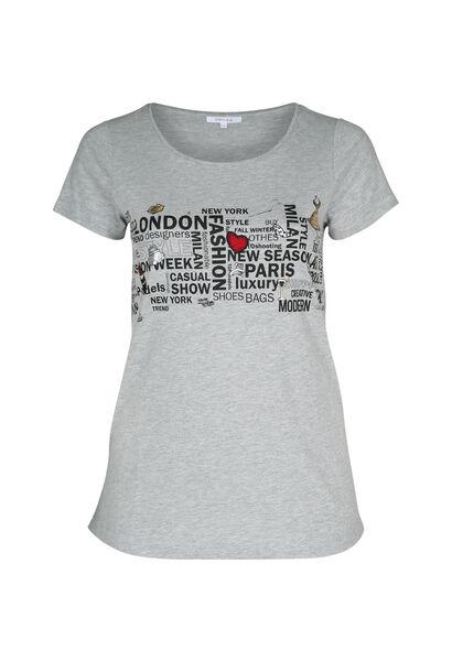 T-shirt imprimé - Gris Chine