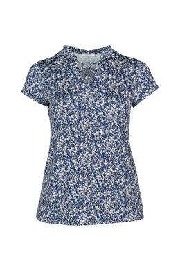 T-shirt maille froide imprimé petites fleurs, Indigo