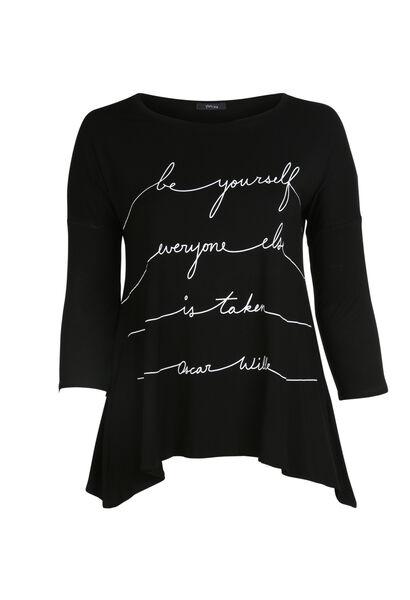 T-shirt print message - Noir