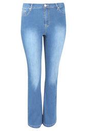 Jeans Bootcut délavé
