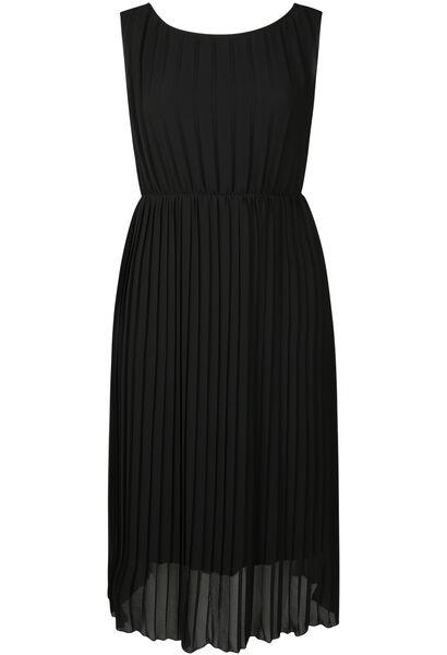 Robe longue voile plissé - Noir