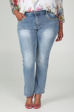 Jeans coupe droite Longueur 30, Denim