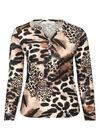 T-shirt imprimé léopard, Camel