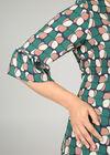 Robe droite imprimé géométrique, Vert