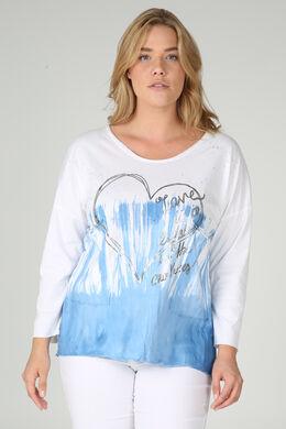 T-shirt imprimé tie & dye, Blanc