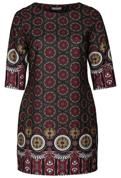 Robe imprimé mosaïque - Bordeaux