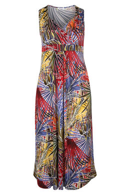Robe longue maille froide, multicolor