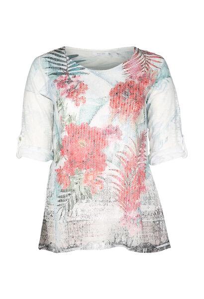 T-shirt imprimé fleuri - multicolor